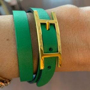 Behapi Doubletour leather bracelet